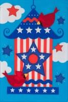 "12"" x 18"" Patriotic Birdhouse Garden Flag"