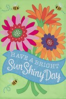 "12"" x 18"" Mini Bright Sun Shiny Day Garden Flag"