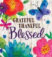 "40"" x 28"" Grateful, Thankful, Blessed Garden Flag"