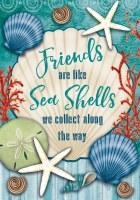 "12"" x 18"" Mini Friends Are Like Sea Shells Garden Flag"