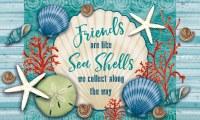 "18"" x 30"" Friends Are Like Sea Shells Doormat"