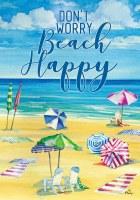 """12"""" x 18"""" Mini Beach Happy Garden Flag"""
