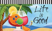 "18"" x 30"" Life Is Good Doormat"