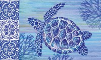 "18"" x 30"" Blue Sea Turtle Door Mat"