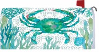 "6.5"" x 17"" Green Crab Mailbox Cover"