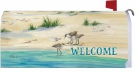 "6.5"" x 17"" Sanpipers Welcome Mailbox Cover"