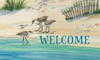 "18"" x 30"" Sandpipers Welcome Doormat"