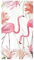 """8"""" x 4.5"""" Flamingo Paradise Garden Guest Towel"""
