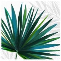 "5"" Square Palm Oasis Beverage Towel"