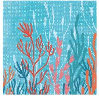 """5"""" Square Coral Tranquility Beverage Napkin"""