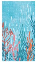 """8"""" x 4.5"""" Coral Tranquility Guest Towel"""