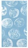 "8"" x 4.5"" Blue Sand Dollars Guest Towel"