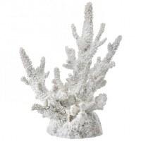 "10.5"" White Faux Polystone Coral"