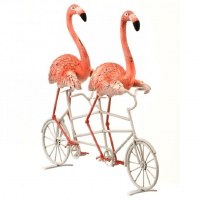 "11"" 2 Flamingos On Tandem Bike"