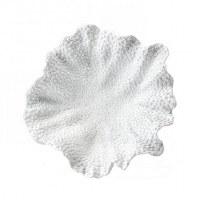 "12"" Round White Faux Coral Bowl"