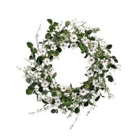 "26"" White Daisy and Greens Wreath"