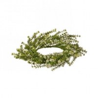 """6"""" Opening Small White Faux Herb Flower Candle Ring"""