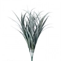 """27"""" Frost and Green Blade Faux Grass Bush"""