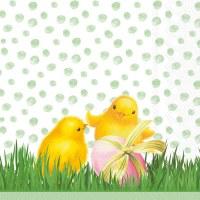 "5"" Square Chicks With Eggs Beverage Napkin"