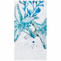 "18"" x 27"" Blue Starfish Flour Sack Kitchen Towel"