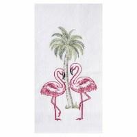 """18"""" x 27"""" Flamingo Palms Flour Sack Kitchen Towel"""