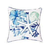 """18"""" Square Blue Water Bay Pillow"""