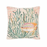 "18"" Square Coral Oceanaire Pillow"