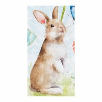 """18"""" x 27""""  Brown Bunny Butterfly Kitchen Towel"""