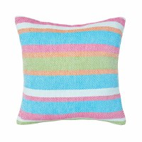 "18"" Square Key Lime Stripe Pillow"