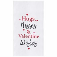 "18"" x 27"" Valentine's Wishes Flour Sack Kitchen Towel"