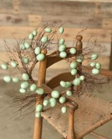 "6.5"" Aqua Egg and Twig Candle Ring"