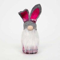 """10"""" Gray Bunny Ear Hat Easter Gnome"""
