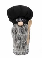"10"" Black Gourmet Hat Gnome"