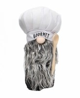 "10"" White Gourmet Hat Gnome"