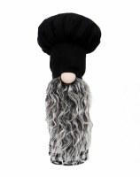 """11"""" Black Chef Hat Gnome"""
