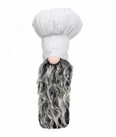 """11"""" White Chef Hat Gnome"""