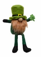 """12"""" St. Patrick's Gnome With Red Beard Sitting"""