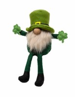 """12"""" St. Patrick's Gnome With White Beard Sitting"""