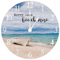 "16"" Worry Less Beach More Wall Clock"
