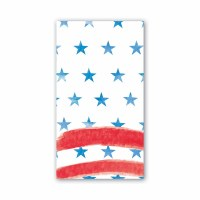 "4"" x 8"" Red White and Blue Guest Towel"