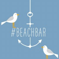 "5"" Square Beach Bar Seagull Beverage Napkin"