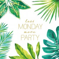 "5"" Square Less Monday More Party Beverage Napkin"
