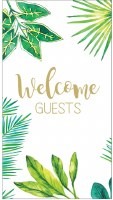 "5"" x 8"" Welcome Guest Leaves Guest Towel"