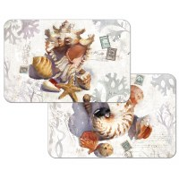 """11"""" x 17"""" Sun Drenched Shells Reversible Placemat"""