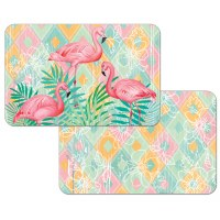 "11"" x 17"" Flamingos On Pastel Reversible Placemat"