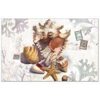 """Pad of 24/ 11"""" x 17"""" Sundrenched Shell Paper Placemat"""