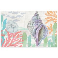 """Pad of 24/ 11"""" x 17"""" Pastel Shell Paper Placemat"""