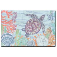 "20"" x 30"" Pastel Sea Turtle Cushion Mat"