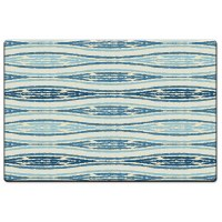 "20"" x 30"" Blue and White Ikat Waves Cushion Mat"
