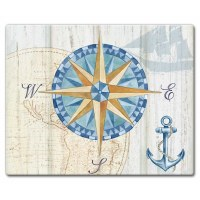 "12"" x 15"" Set Sail Compass Cutting Board"